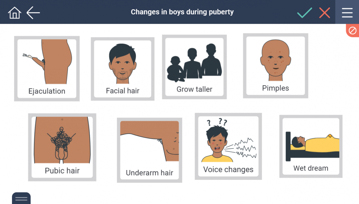 Physical changes for boys during puberty