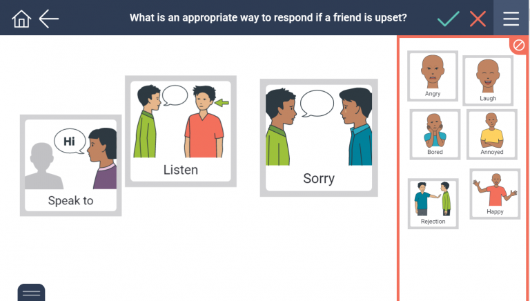 Separating appropriate and inappropriate responses
