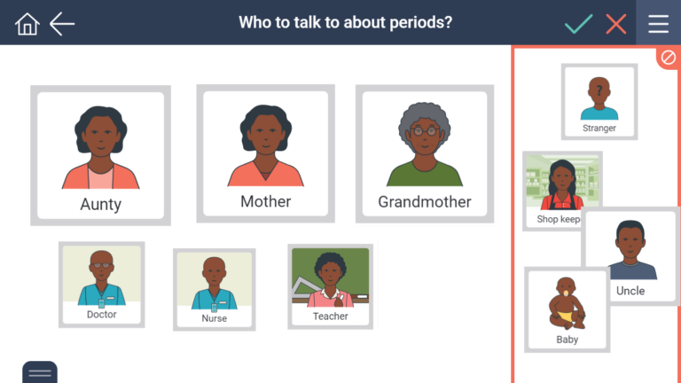 who you can talk to about periods