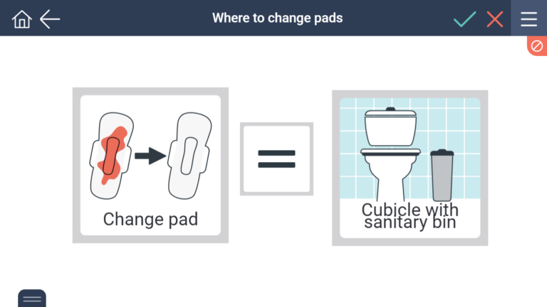change pad in a toilet with a sanitary bin