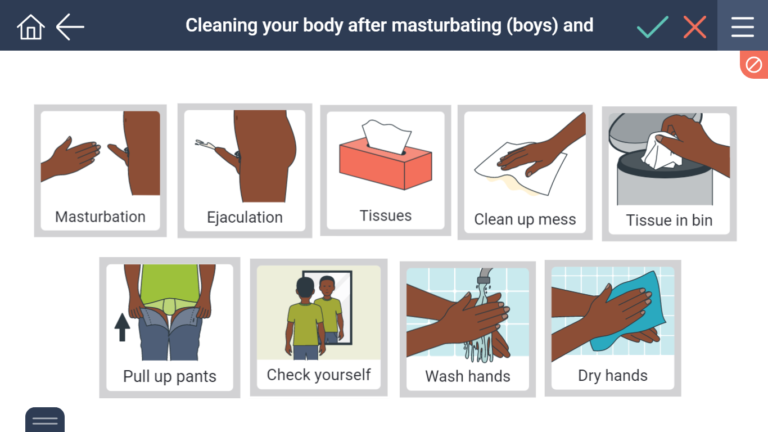 cleaning up after masturbation